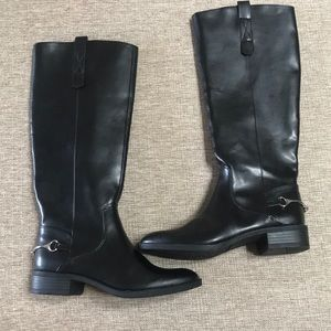 New never worn black Sam and Libby black boots